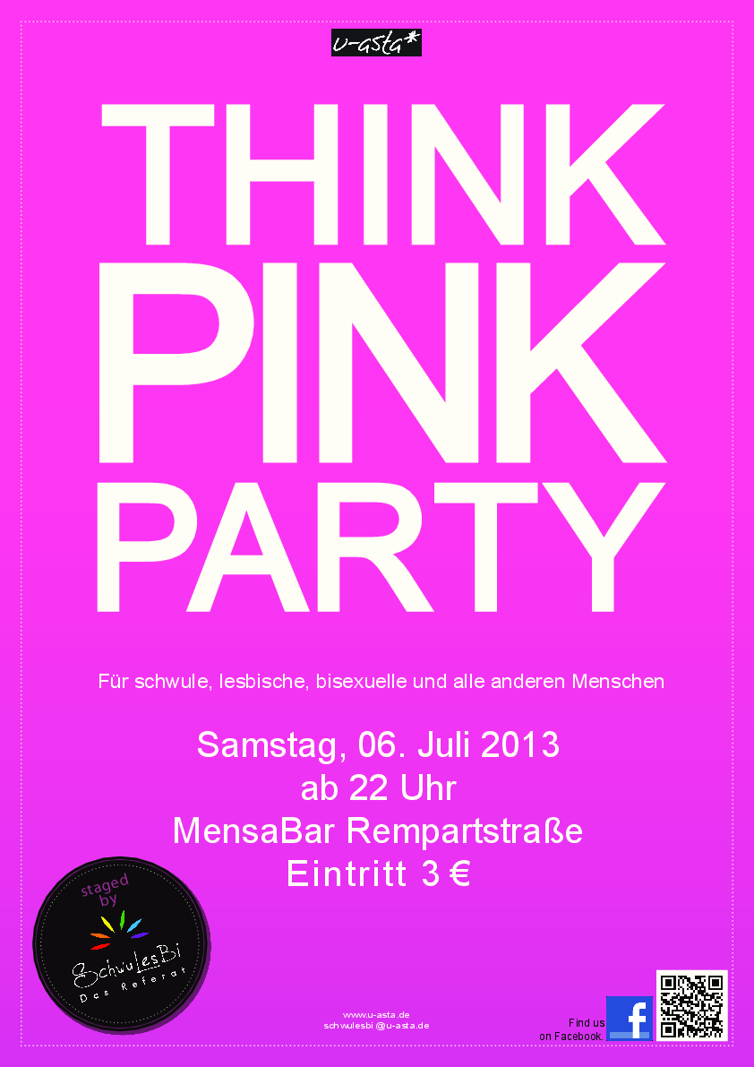 plakat pink party ii sose 2013