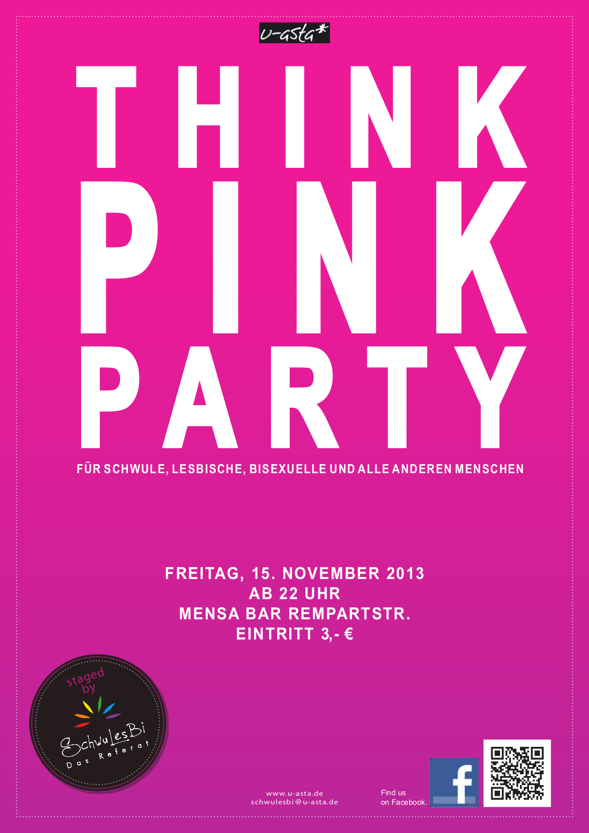 plakat pink party i wise 2013 / 2014