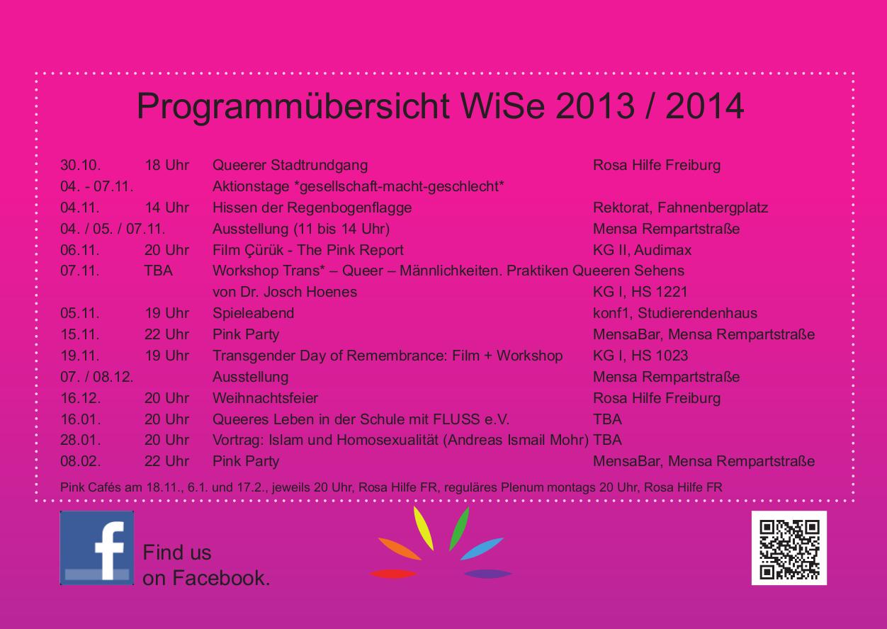 programm des wise 2013 / 2014